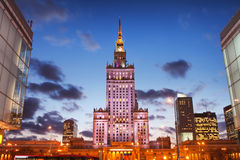 Palace of Culture and Science in Warsaw Stock Photography