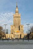 Palace of Culture and Science in Warsaw Stock Images
