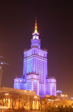 Palace of Culture and Science in Warsaw (Poland). The Palace of Culture and Science in Warsaw (Poland) at night. The symbol of communist domination in Poland Royalty Free Stock Photography
