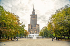 Palace of Culture and Science, Warsaw royalty free stock photo