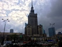 Palace of Culture & Science Royalty Free Stock Photos