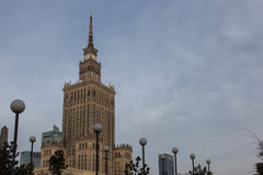Palace of Culture and Science in Warsaw. Poland Royalty Free Stock Images
