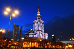 Palace of Culture and Science in Warsaw, Poland Royalty Free Stock Image