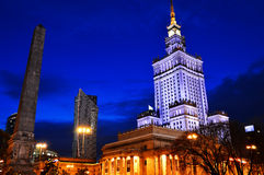 Palace of Culture and Science in Warsaw, Poland Stock Images