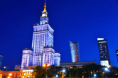 Palace of Culture and Science in Warsaw, Poland. Warsaw city center with Palace of Culture and Science, the tallest building in Poland and the eighth tallest stock photography