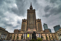 Palace of Culture and Science in Warsaw. Poland. Cloudy day Royalty Free Stock Photography