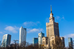 Palace of Culture and Science Stock Image