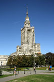 Palace of Culture and Science in Warsaw (Poland) Stock Image