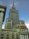 Palace of Culture and Science in Warsaw, Poland Royalty Free Stock Photos