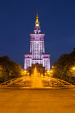Palace of Culture and Science in Warsaw, Poland Stock Image
