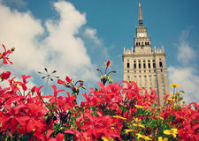 The Palace of Culture and Science in Warsaw Stock Photography