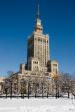 Palace of Culture and Science in winter Royalty Free Stock Images