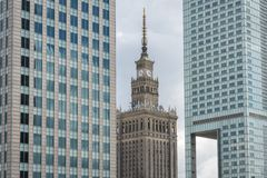Palace of Culture in Warsaw Stock Images