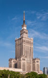 Palace of Culture in Warsaw, Poland. Palace of Culture and Science (PKiN) in Warsaw city center, Poland. Landmark and symbol of Stalinism and communism stock image