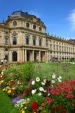 Palace d'évêque dans le rzburg de ¼ de WÃ, Allemagne 2011 Image stock