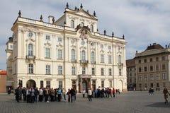 Palace d'archevêque, Prague image libre de droits