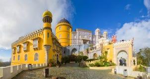 Palace da Pena. View of Palace da Pena - Sintra, Lisboa, Portugal - European travel Stock Photos