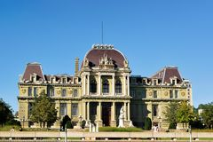 Palace de Justice Montbenon in Lausanne Royalty Free Stock Photo