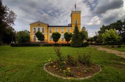 Palace in Debowa Leka (D�bowa ��ka) Royalty Free Stock Photography
