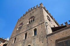 Palace del re Enzo. Bologna. L'Emilia Romagna. L'Italia Fotografia Stock Libera da Diritti