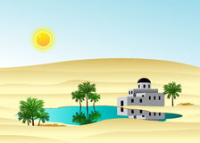 The palace in the desert. Stock Image