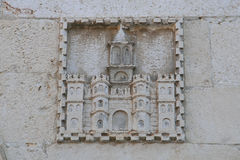 Palace of diocletian high relief spalato Stock Image