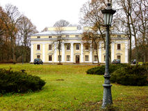 Palace in the Distance. Old Palace and its Yard in Vilius, Lithuania Stock Photos