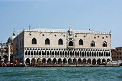 The Palace of Doges. On Sacred Mark's area. Venice stock photography