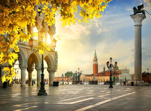 Palace of Doges in autumn Royalty Free Stock Photos