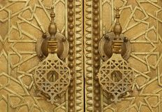 Palace door in Fez. Morocco Royalty Free Stock Images