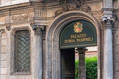 Palace doria pamphilj Royalty Free Stock Image