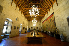 Palace of the Dukes of Braganza, Guimarães, Portugal. The Banqueting Hall, Palace of the Dukes of Braganza (Paço dos Duques de Bragança) Palace of the royalty free stock image