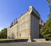 Palace of the Duques of Braganca, Guimaraes. Palace of the Duques of Braganca, a medieval palace and museum in Guimaraes, Portugal. Unesco World Heritage Site royalty free stock image