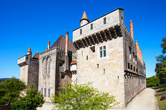 Palace Duques of Braganza. Palace of the Duques of Braganza, a medieval palace and museum in Guimaraes, Portugal royalty free stock image