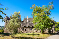 Palace Duques of Braganza. Palace of the Duques of Braganza, a medieval palace and museum in Guimaraes, Portugal stock photo