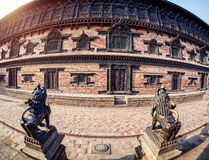 Palace on Durbar square in Bhaktapur Royalty Free Stock Image
