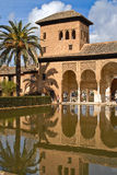 Palace of el partal. Sight of the palace of the partal and its pond inside the alhambra, grenade, Spain Stock Photography