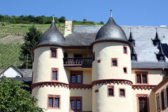 Palace of the Elector of Zell. On the Moselle in Germany.Is now used as a hotel stock photography