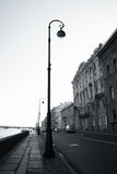 Palace Embankment. Lantern on the Palace Embankment in St. - Petersburg in the early morning Stock Photo