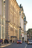 Palace Embankment at evening Royalty Free Stock Images
