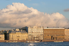 Palace Embankment Saint Petersburg Stock Image
