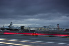The Palace embankment ,St. Petersburg ,Russia Stock Images