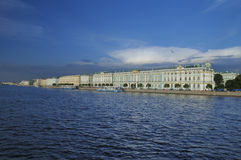 Palace embankment in St. Petersburg Royalty Free Stock Photo