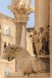 Palace of the Emperor Diocletian. Split. Croatia. Lion. The peristyle of the Palace built in the fourth century AD by the Roman emperor Diocletian. Split Stock Image