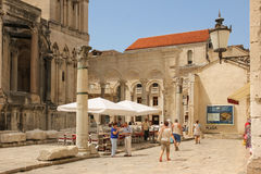 Palace of the Emperor Diocletian. Split. Croatia Royalty Free Stock Photography