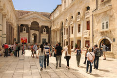 Palace of the Emperor Diocletian. Split. Croatia royalty free stock photo