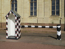 The palace of Emperor Paul I. Street booth to guard the palace. Gatchina. Russia Stock Photos