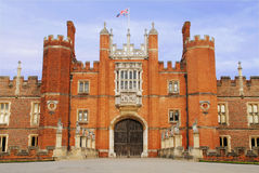 Palace entrance. Entrance to a royal castle or palace.  Surrey, England Royalty Free Stock Photo