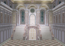 Palace Entrance. 3D digital render of a fairy tale palace entrance Royalty Free Stock Images