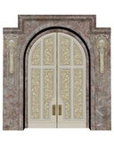 Palace entrance - 3D render Royalty Free Stock Photo
